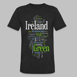 Ireland Words - Unisex Tri-Blend T-Shirt by American Apparel