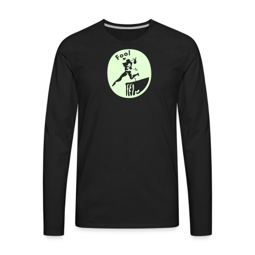 Fool glow in the dark - Men's Premium Long Sleeve T-Shirt