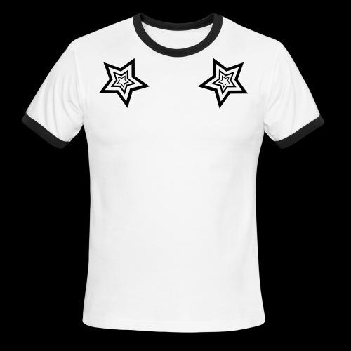 StarMaster White by CyberSpaceVIP - Men's Ringer T-Shirt