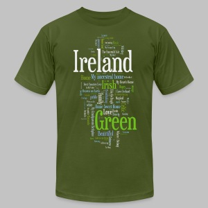 Ireland Words - Men's T-Shirt by American Apparel