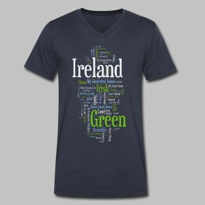 Ireland Words - Men's V-Neck T-Shirt by Canvas