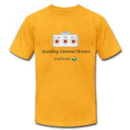 T-Shirts ~ Men's T-Shirt by American Apparel ~ Gamma Drama (gold)