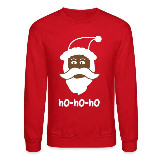 black santa sweater ho ho ho