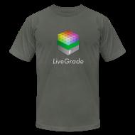 T-Shirts ~ Men's T-Shirt by American Apparel ~ LiveGrade (grey)