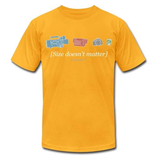 Size doesn't matter (gold) - Men's Fine Jersey T-Shirt