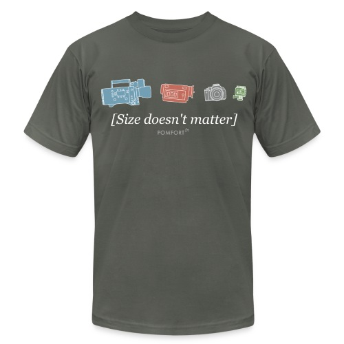 Size doesn't matter (grey)  - Men's Fine Jersey T-Shirt
