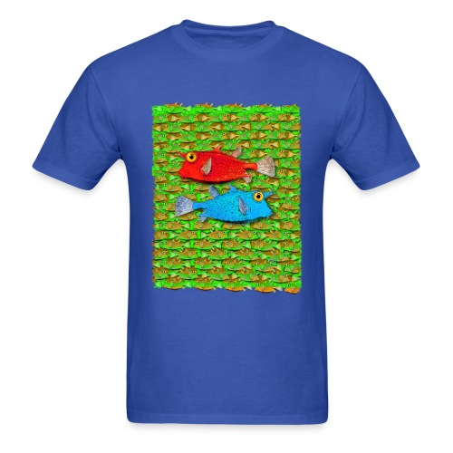 red fish, blue fish, many fish - Men's T-Shirt
