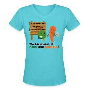Peas and Carrots Harambe Women's V-neck T-shirt - Women's V-Neck T-Shirt