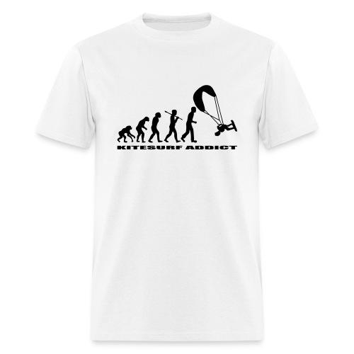 T-shirt evolution of man kitesurf addict - Men's T-Shirt