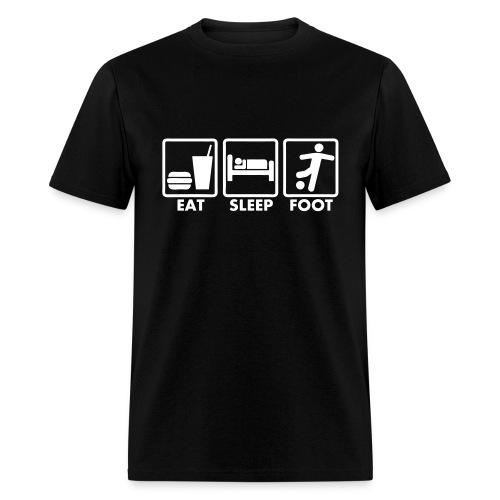 T-shirt football eat sleep foot - Men's T-Shirt