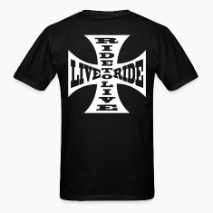 T-shirt motorcycle biker ride to live live to ride