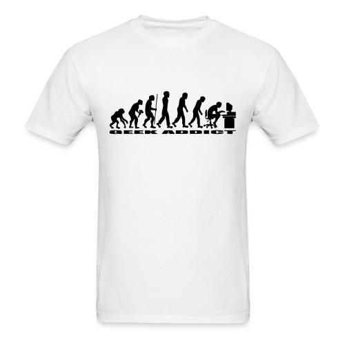 T-shirt evolution of man geek addict - Men's T-Shirt