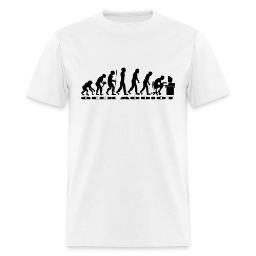 T-shirt evolution of man geek addict - Men's T-Shirt
