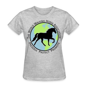 Women's Grey Tee w/ Seal Logo - Women's T-Shirt