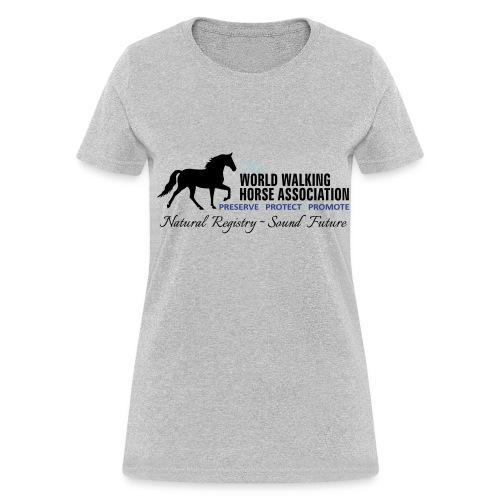 Womens Grey Tee w/ WWHA Logo  - Women's T-Shirt