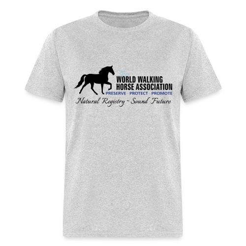 Mens Grey Tee w/ WWHA Logo  - Men's T-Shirt