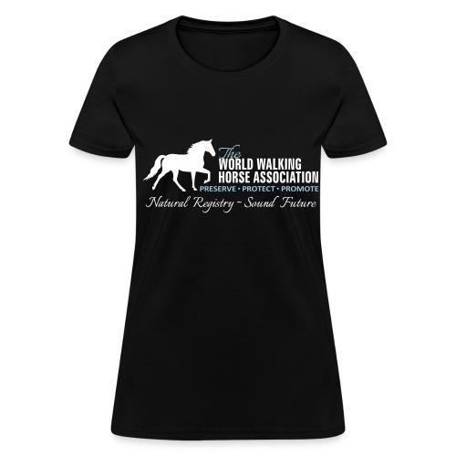 Womens Black Tee w/ WWHA Logo  - Women's T-Shirt
