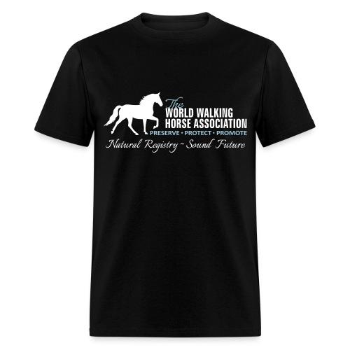 Mens Black Tee w/ WWHA Logo  - Men's T-Shirt