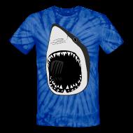 T-Shirts ~ Unisex Tie Dye T-Shirt ~ animal t-shirt white shark jaws fish fishing diver scuba diving sharks