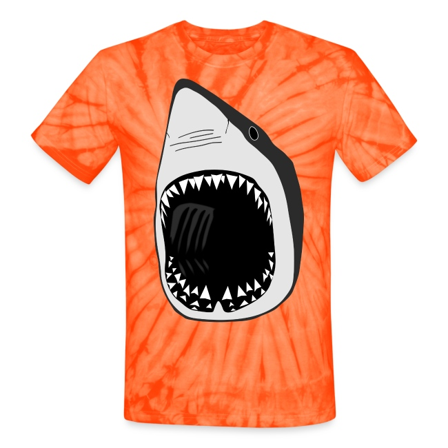 animal t-shirt white shark jaws fish fishing diver scuba diving sharks