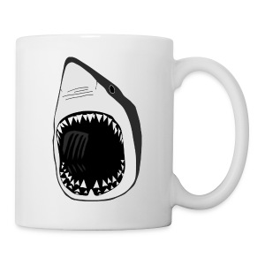 animal mug t-shirt white shark jaws fish fishing diver scuba diving sharks - Coffee/Tea Mug