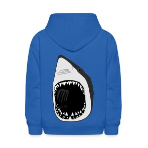 animal t-shirt white shark jaws fish fishing diver scuba diving sharks - Kids' Hoodie