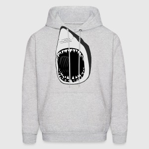 white shark jaws sharks fish fishing scuba diving  Hoodies - Men's Hoodie