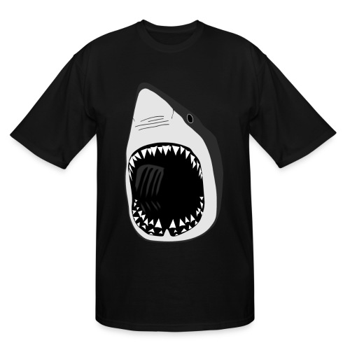 animal t-shirt white shark jaws fish fishing diver scuba diving sharks - Men's Tall T-Shirt