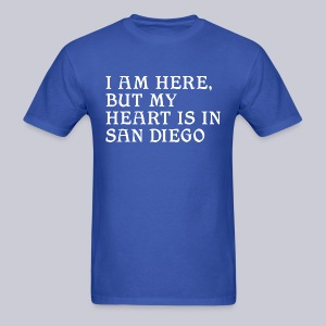 Heart is in SD - Men's T-Shirt