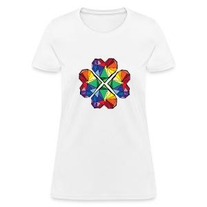 Rainbow geometric clover Women's T-Shirt - Women's T-Shirt