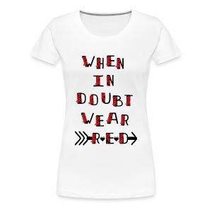 Wear red Women's Premium T-Shirt - Women's Premium T-Shirt