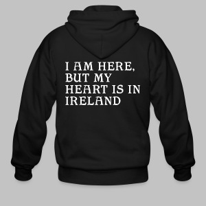 Heart is in Ireland - Men's Zip Hoodie