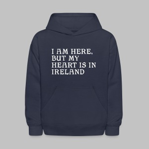 Heart is in Ireland - Kids' Hoodie