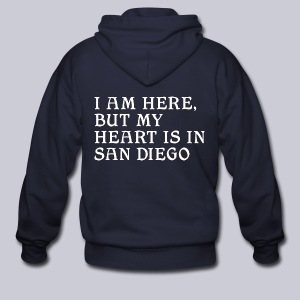 Heart is in SD - Men's Zip Hoodie