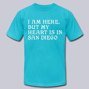 Heart is in SD - Men's T-Shirt by American Apparel