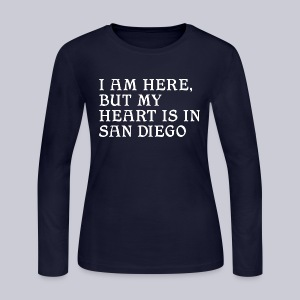 Heart is in SD - Women's Long Sleeve Jersey T-Shirt