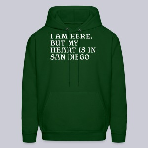 Heart is in SD - Men's Hoodie