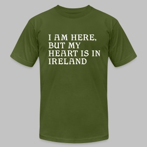 Heart is in Ireland - Men's T-Shirt by American Apparel