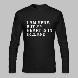 Heart is in Ireland - Men's Long Sleeve T-Shirt by Next Level