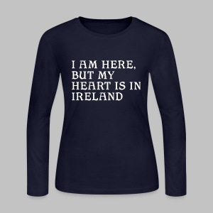 Heart is in Ireland - Women's Long Sleeve Jersey T-Shirt