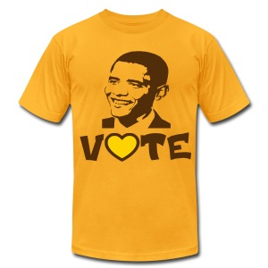 Iota Sweets Vote Obama - Men's T-Shirt by American Apparel