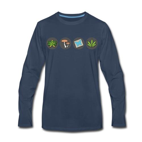 Cartel Mogul Men's Icon Long Sleeve Shirt - Men's Premium Long Sleeve T-Shirt