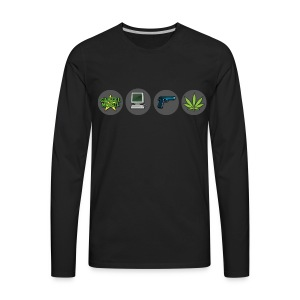 Cartel Mogul Men's Long Sleeve Shirt - Men's Premium Long Sleeve T-Shirt