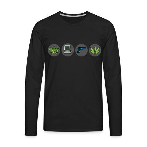 Cartel Mogul Men's Long Sleeve Shirt - Men's Premium Long Sleeve T-Shirt