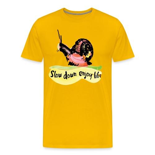 slow down, enjoy life Men's Premium T-Shirt - Men's Premium T-Shirt