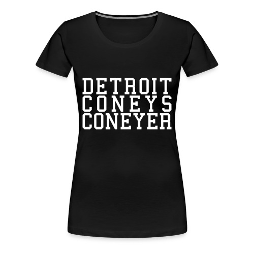 Detroit Coneys Coneyer Women's T-Shirt - Women's Premium T-Shirt