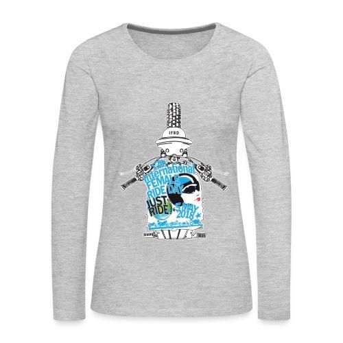 2018 International Female Ride Day • Long Sleeve T-shirt - Women's Premium Long Sleeve T-Shirt