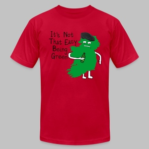 Not Easy Being Green - Men's T-Shirt by American Apparel