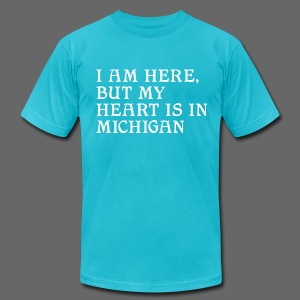 Heart is in Michigan - Men's Fine Jersey T-Shirt