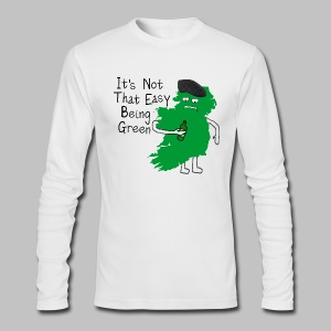 Not Easy Being Green - Men's Long Sleeve T-Shirt by Next Level